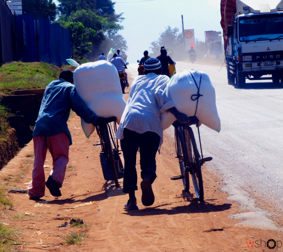 In Mbale bicycles are still active in the transport sector